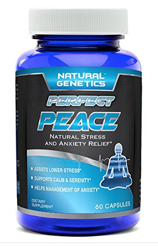Natural Anxiety Relief Supplement, PERFECT PEACE. Fast Acting Stress Reducing Pills Help to Clear & Calm Your Mind and Ease Racing Thoughts Depression and Low Mood. Balance Your Life Naturally