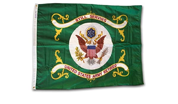 Collectibles US ARMY RETIRED 3x4 ft Flag STILL SERVING Official Military  Flag Nylon USA Made Flags & Banners
