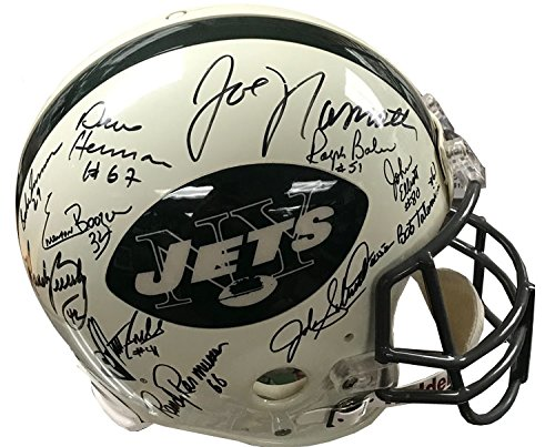 1969 New York Jets Steiner 26 Player Signed Super Bowl Champion Throwback Pro Football Helmet w/ Namat and ()