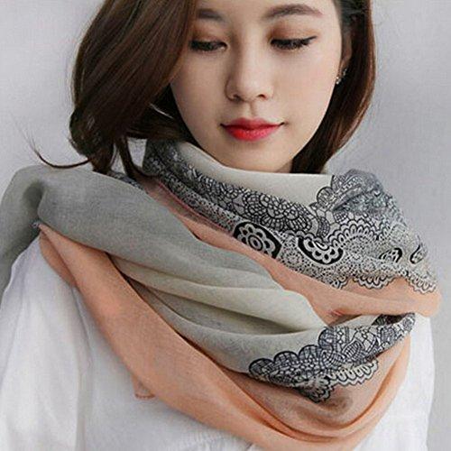 Mode Foulards coton chaud et écharpe en lin Infinity écharpe,Rouge clair