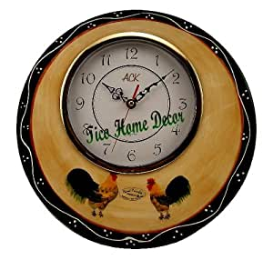 country kitchen wall clocks country rooster wall clock hanging wall clock 6167