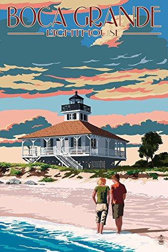 Boca Grande, Florida - Lighthouse (16x24 Giclee Gallery Print, Wall Decor Travel Poster)