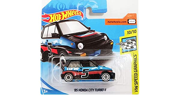 Hot Wheels Honda City Turbo LL - History Car 1985 - 1: 64 - Color: Basic Black (HW serie de 10/10 Speed Graphics 2018): Amazon.es: Bebé