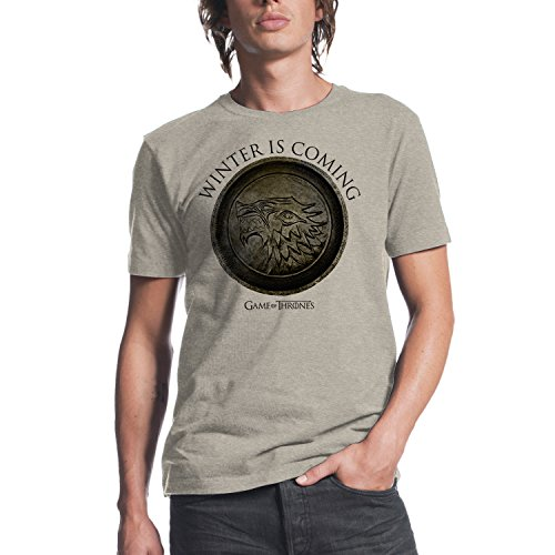 Game of Thrones Winter Is Coming Circle Mens Oatmeal Heather T-shirt L (Clothing Mens)