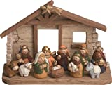 Childrens Nativity Set - 12 Piece Resin - 6 X 4 Inches