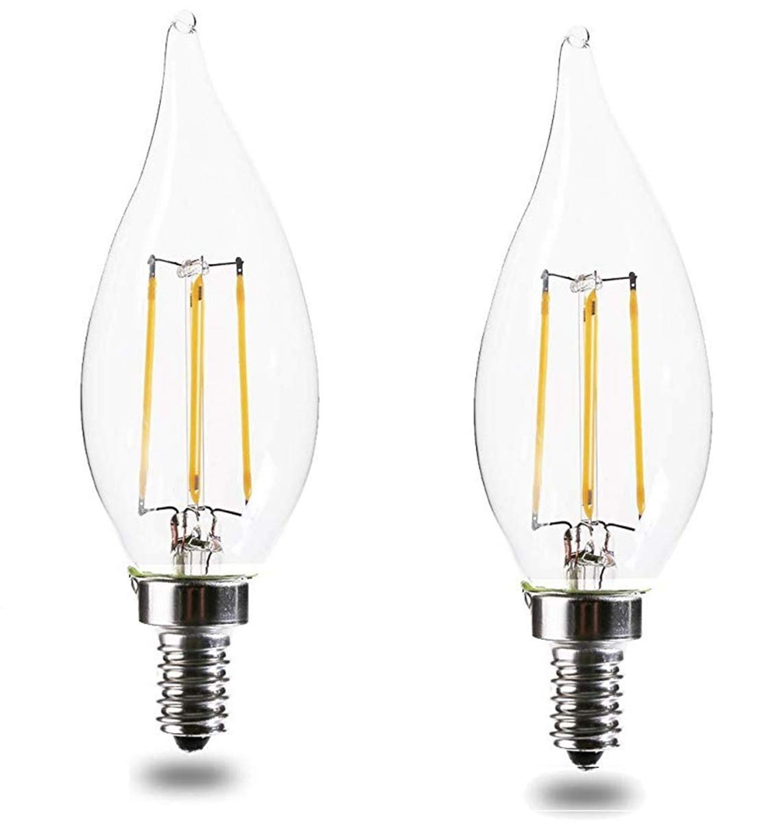 E12 Led Bulbs 60 watt Dimmable warm white.