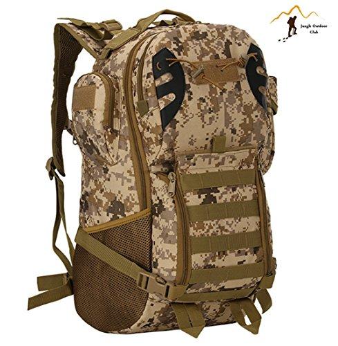 Jungle Oxford Neue 45L Tactical Rucksack Outdoor Reise Rucksack Molle Big Bags Camouflage Tactical Taschen Wild Rucksack Tasche Wandern Klettern Rucksack, desert Digital