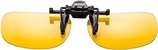Zheino 1909 Jaune Lunettes Clip Nuit Lunettes de Soleil UV400 Conduite de Unisexe Polarisé Clip Sur Flip Up Plastic Lunettes Nuit de Pêche Polarisée Conduite Cyclisme Myopie Lunettes de Clip Yellow Polarized Sunglasses Yellow