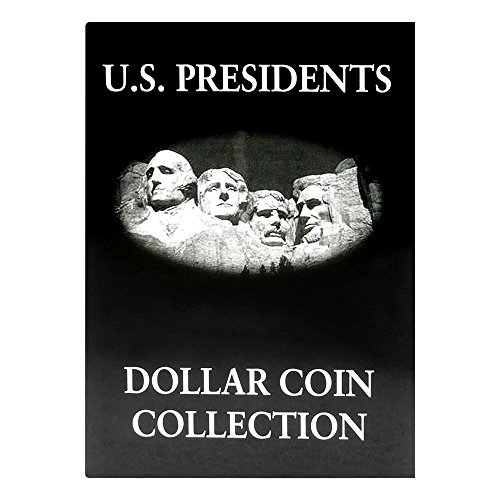 Us Presidents Dollar Coins - Lot of 4 - US Presidents Dollar Coin Collection Album, Black & White Holds 39 Coins, #L0780.