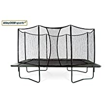 AlleyOop 10'x17' PowerBounce rectangular trampoline with integrated Safety Enclosure