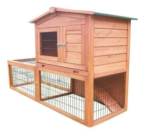 Bunny Business Kaninchenstall mit integriertem Laufbereich und Einzäunung Kaninchenstall hasenställen BF2Kaninchenstall