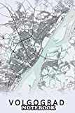 """Notebook: Volgograd Russia City Map , Journal for Writing, College Ruled Size 6"""" x 9"""", 110 Pages"""