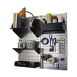 Wall Control Hobby Craft Pegboard Organizer Storage Kit, Metallic/Black