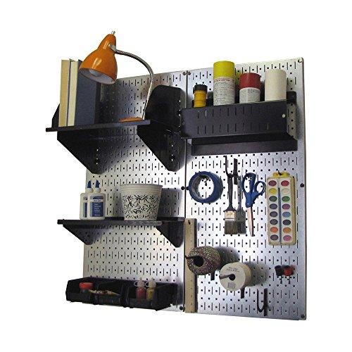 Wall Control Hobby Craft Pegboard Organizer Storage Kit, Metallic/Black by Wall Control (Image #1)