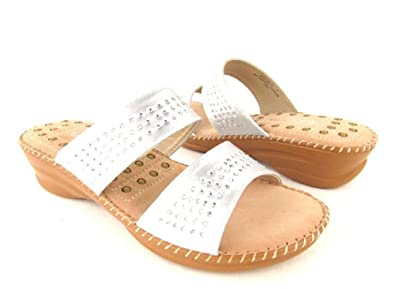 Comfy Soles by Bamboo Appease-01 Two Strap Open Toe Slide On Sandal