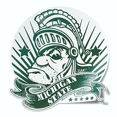 Gruff Money Sparty Michigan State Vinyl Car Decal - State Michigan Auto