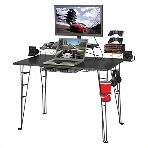 Built In Cup Holders - Atlantic Gaming Desk - Gaming Computer Desk