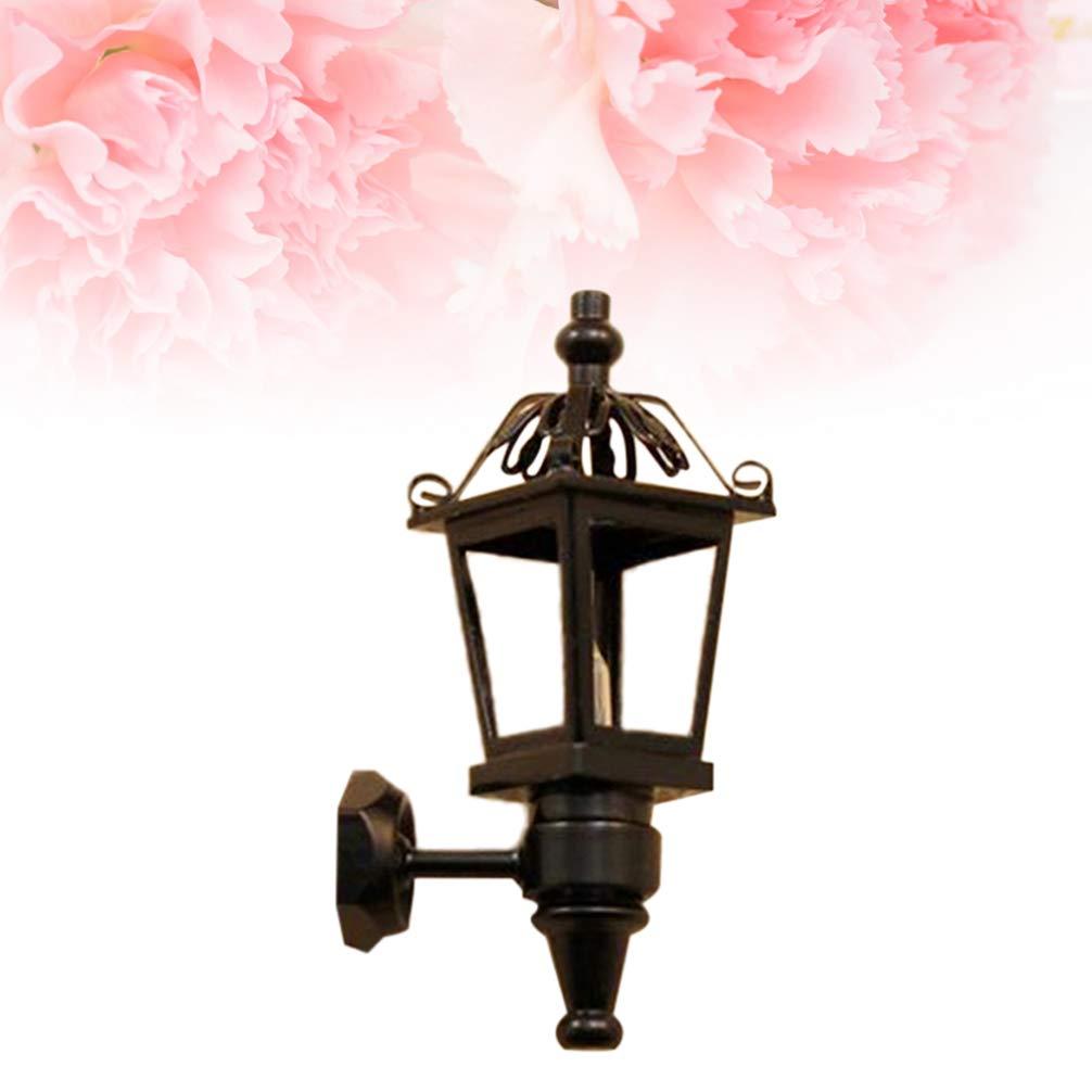 1 pieza Uonlytech l/ámpara de pared de la casa de mu/ñecas luz de techo de la casa de mu/ñecas en miniatura vintage para el hogar de la habitaci/ón de los ni/ños
