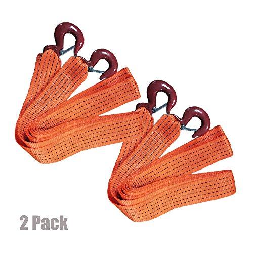 Big Save! AA Products Heavy Duty 11,000lbs Tow Straps with Double J Hooks - Length (2 X 13 ft) 2 Pa...