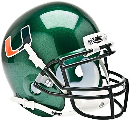 NCAA Miami Hurricanes Collectible Alt 1 Mini Helmet, (Hurricanes Team Helmet)