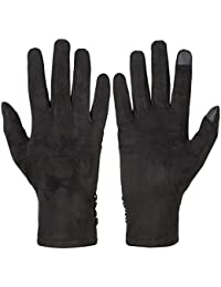 Women's Touch Screen Gloves Texting Suede Leather Warm Winter Feast Gloves Driving riding outdoor and indoor fashion gloves
