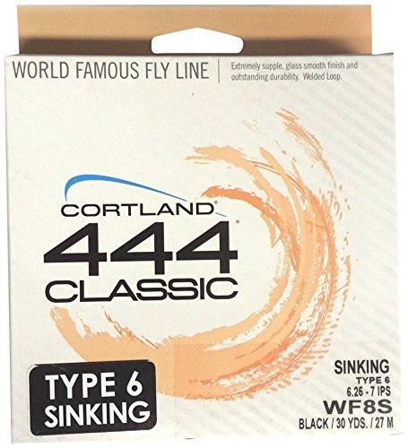 Cortland Line WF8/S Full Sinking Fishing Line, Black