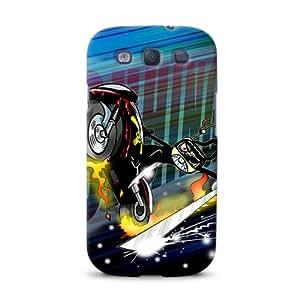 Diabloskinz D0079-0046-0029 Ninja Bunny Motorbike - Carcasa impresa para Samsung Galaxy S3
