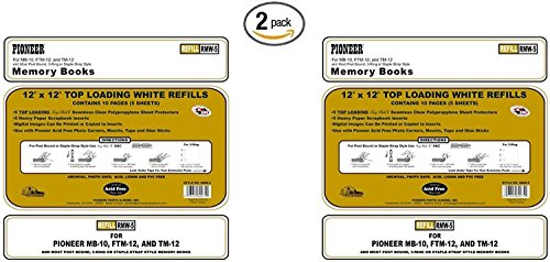 - Pioneer Post Bund Top Loading Page Protectors with White Inserts, 12 by 12-Inch, 5-Pack ((2 Pack) 12