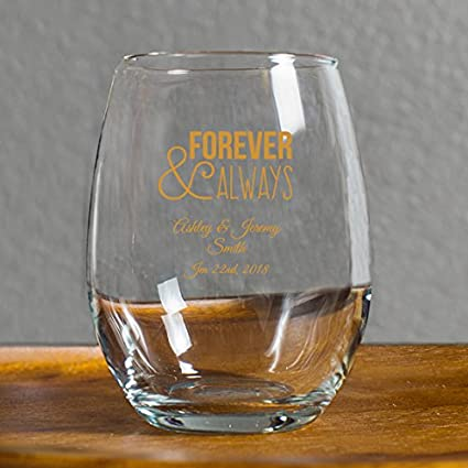 Amazon 48 Pack Forever And Always Stemless Wine Glasses 9