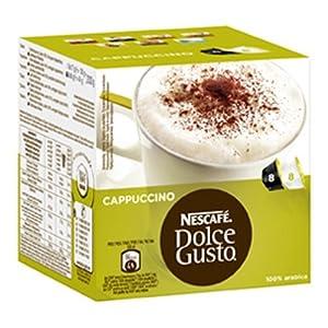 Nescafé Dolce Gusto Cappuccino, 3er Pack (24 Kaffeekapseln + 24 Milchkapseln)