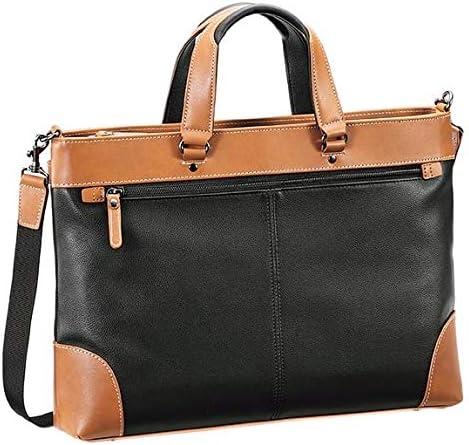 平野鞄 ビジネスバッグ メンズ ブリーフケース B4 A4 軽量 2way 仕事 通勤 ビジネス 黒 紺 ブラック ネイビー 横幅39cm +オリジナル高級ムートングローブ