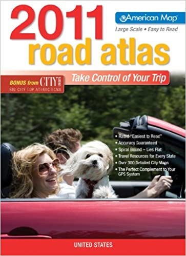 us road atlas 2011 large print american map road atlas american map company 9780841629097 amazon com books