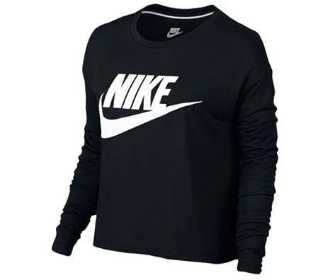 f6d75652 Amazon.com: NIKE Essential Long Sleeve Crop TOP - Women's: Sports & Outdoors