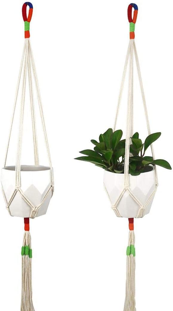 GoodKE 1PC Home Balcony Hanging Flower Pot Braided Cotton Rope Plant Pot Fire Pit /& Outdoor Fireplace Parts