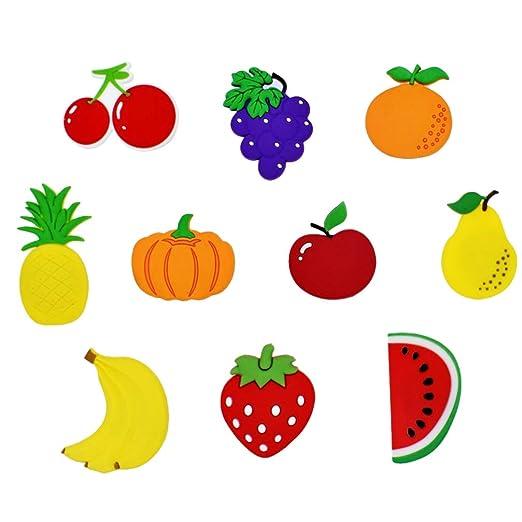 VOSAREA - 10 imanes para Nevera con Forma de Fruta y Dibujos ...