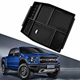 YOCTM Black Center Console Armrest Tray Organizer Storage Box fits for Ford F150 Raptor 2015 2016 2017 2018