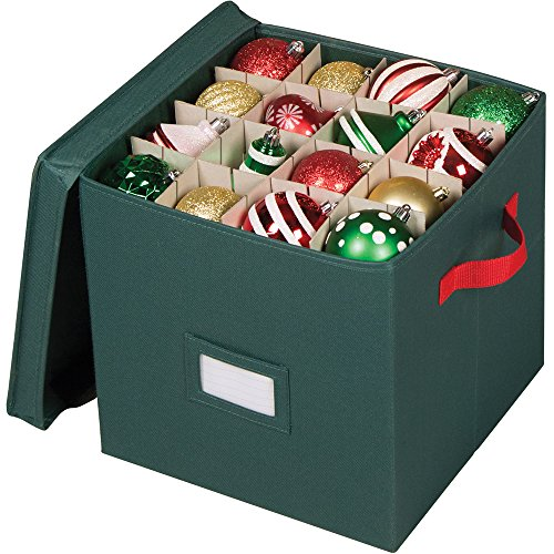 Richards Homewares - Holiday Green 64 Compartment Cube Ornament Organizer