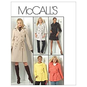 McCall's Patterns M5525 Misses'/Women's Lined Jackets, Coats and Belt, Size B5 (8-10-12-14-16)