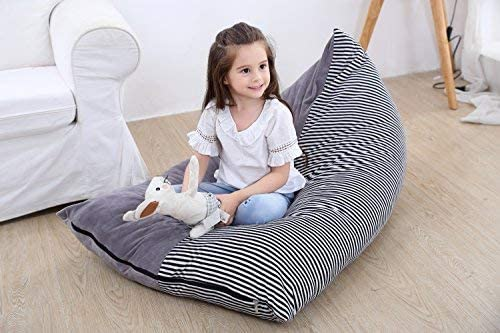 Stuffed Animal Bean Bag Chair Kids Toy Storage Organizer Stuffie Seat