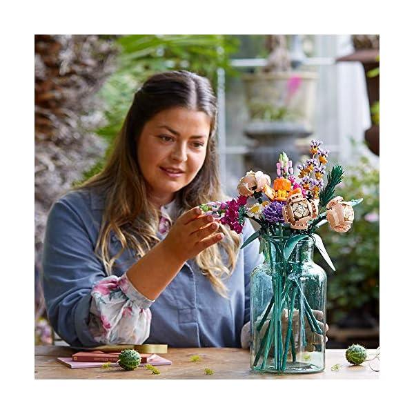 LEGO Flower Bouquet 10280 Building Kit; A Unique Flower Bouquet and Creative Project for Adults, New 2021 (756 Pieces)