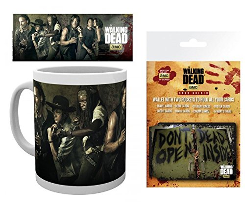 Set: The Walking Dead, Andrew Lincoln Photo Coffee Mug (4x3 inches) And 1 The Walking Dead, Credit Card Holder Wallet For Fans Collectible (4x3 inches)