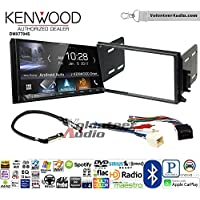 Volunteer Audio Kenwood DMX7704S Double Din Radio Install Kit with Apple CarPlay Android Auto Bluetooth Fits 1998-2002 Continental