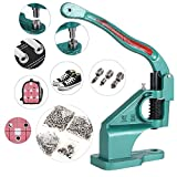 Vividy Grommet Machine Hand Press, Heavy Duty Grommet Tool Portable Hole Punch Tool w/ 3 Die (#0#2#4) and 900 Pcs Grommets Banner Eyelet Tool Kit