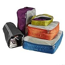Lug Cargo 5-Piece Packing Kit, Ocean Blue/Plum Purple/Sunset Orange/Grass Green/Marigold Yellow, One Size