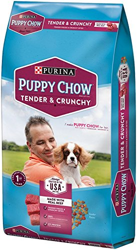 Purina Puppy Chow Tender & Crunchy Real Beef 4.4 LB Bag
