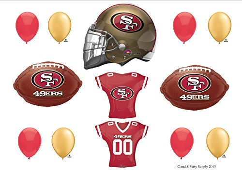 SAN FRANCISCO 49ers JERSEY Birthday Party Balloons Decoration Supplies