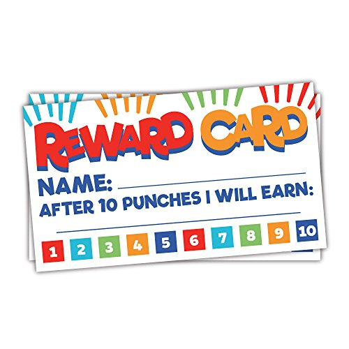 50 Fun Reward Punch Cards for Teachers and Students - Classroom and Homeschool Behavior Management Incentive Cards]()