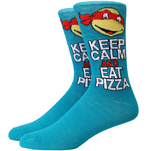 Teenage Mutant Ninja Turtles Keep Calm & Eat Pizza Adult Crew -