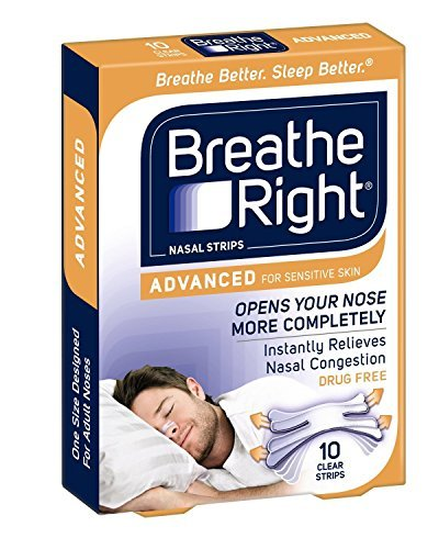 Breathe Right Advanced Nasal Strips 10-count (Pack of 3) by Breathe Right