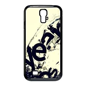 Samsung Galaxy S4 9500 Cell Phone Case Black Beige Letters Ink VIU067060
